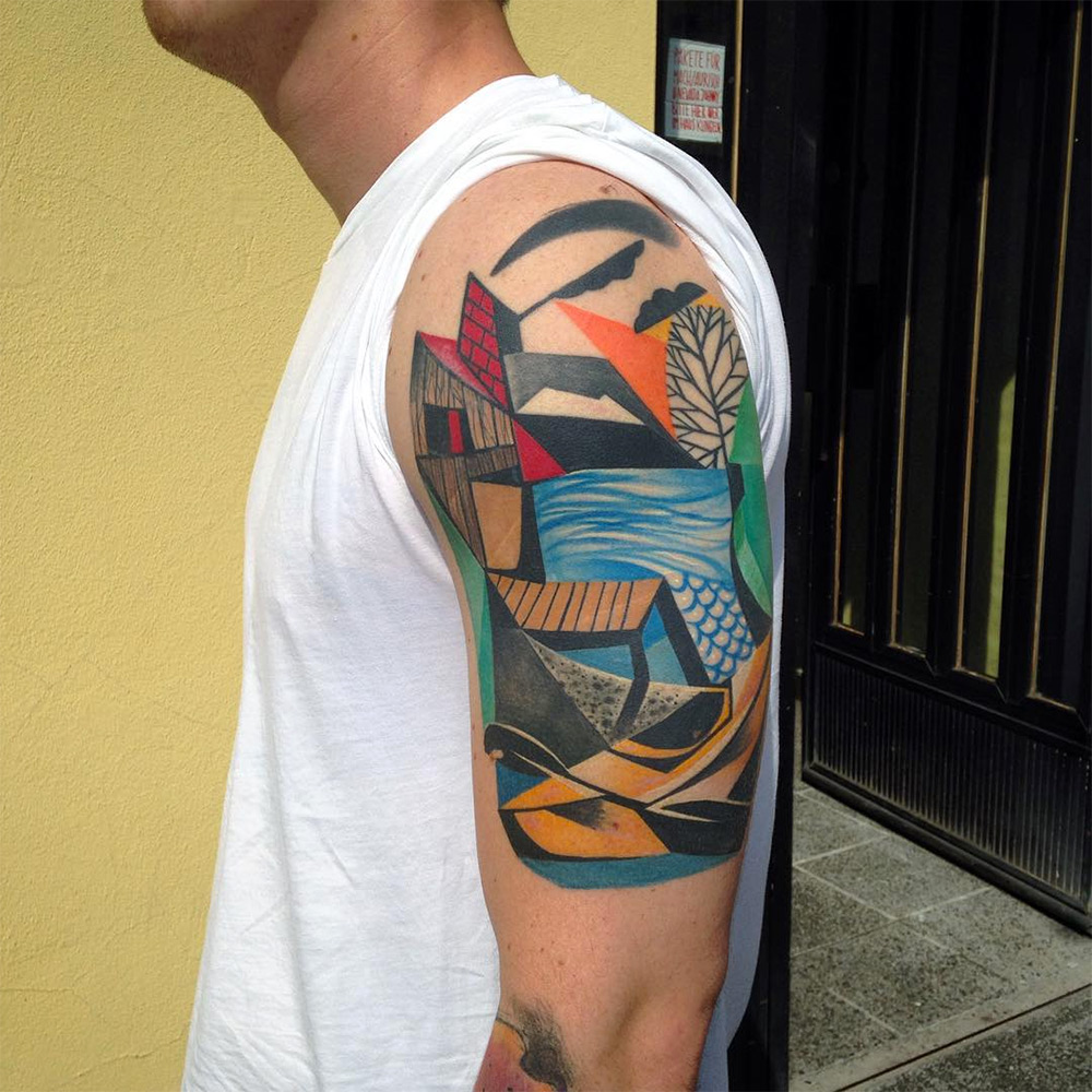 New Cubist Tattoos by Peter Aurisch(9)