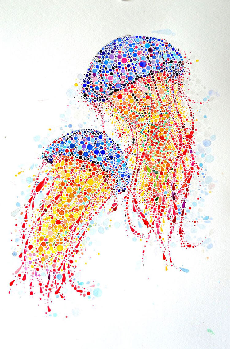 Ana Enshina arte a puntos oldskull 4