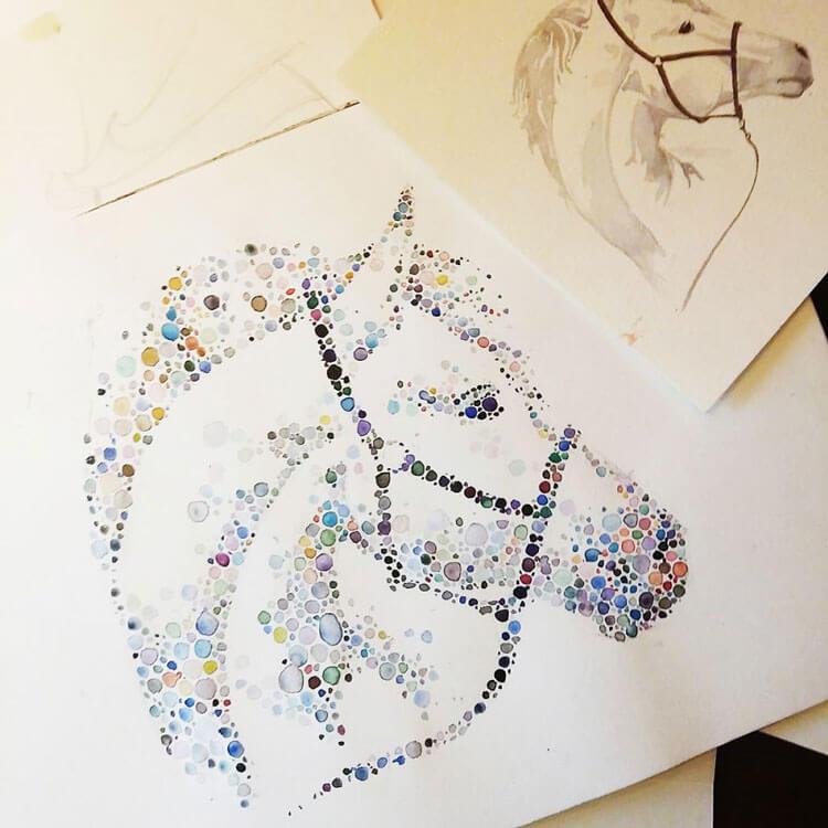 Ana Enshina arte a puntos oldskull 6