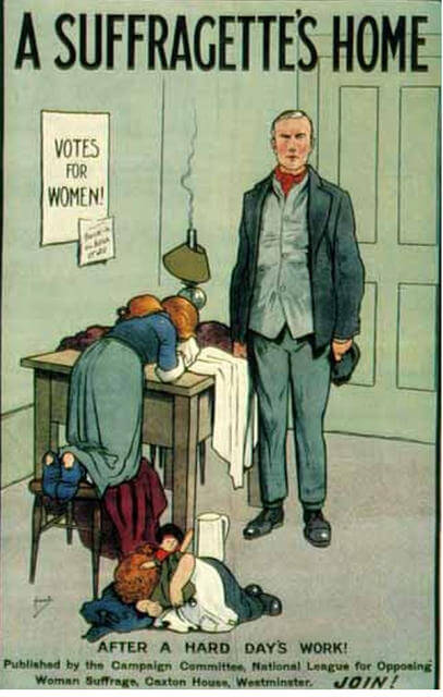 Propaganda Postcards Warn Men about the Dangers of Women's Rights from the Early 20th Century (11)