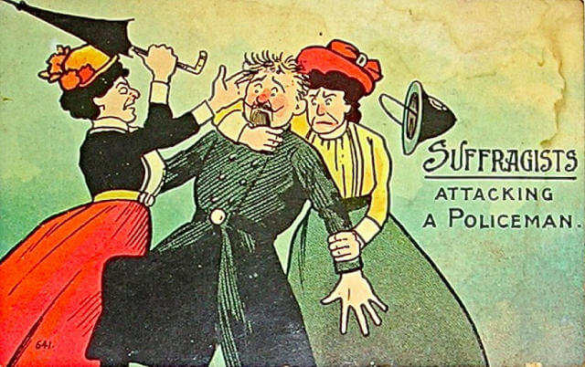 Propaganda Postcards Warn Men about the Dangers of Women's Rights from the Early 20th Century (5)