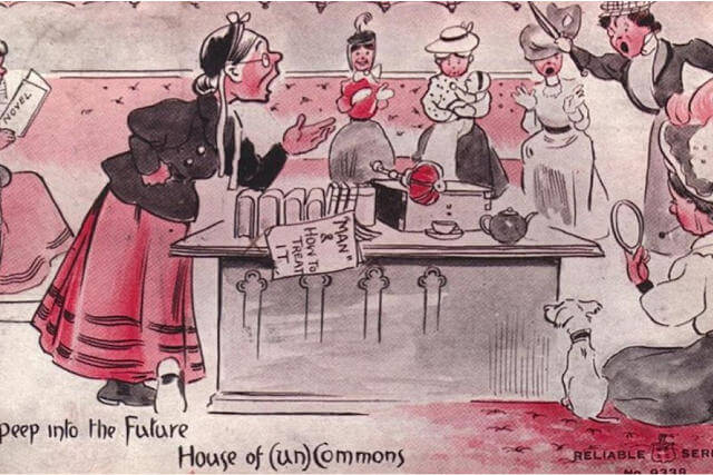Propaganda Postcards Warn Men about the Dangers of Women's Rights from the Early 20th Century (6)
