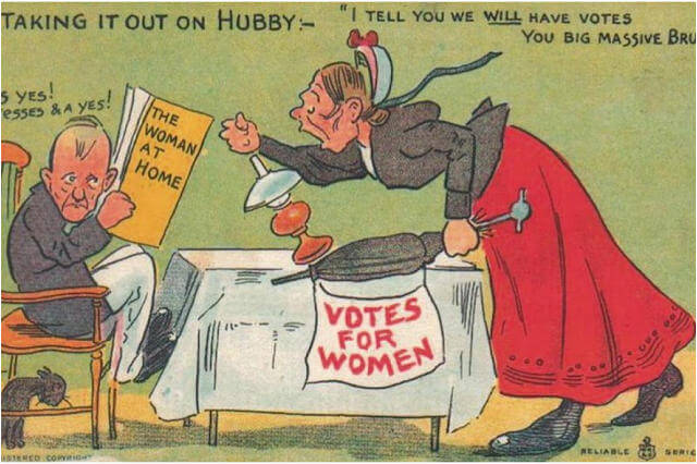 Propaganda Postcards Warn Men about the Dangers of Women's Rights from the Early 20th Century (7)