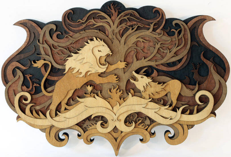 Splendid Wood Cutout Sculptures by Martin Tomsky