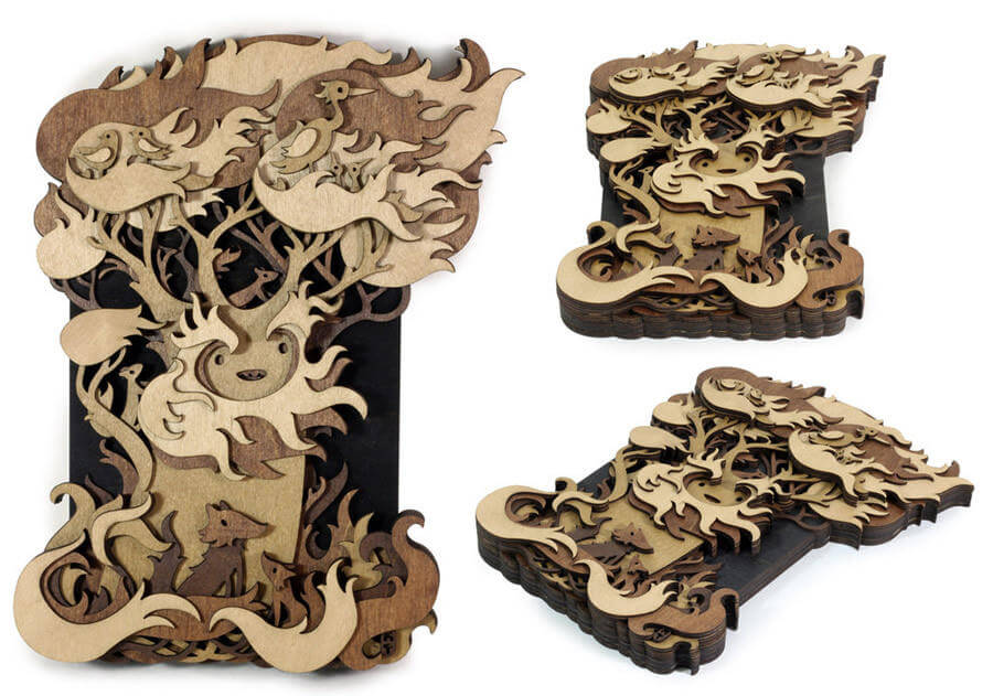 Splendid Wood Cutout Sculptures by Martin Tomsky  (1)