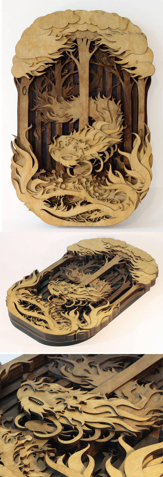 Splendid Wood Cutout Sculptures by Martin Tomsky  (10)