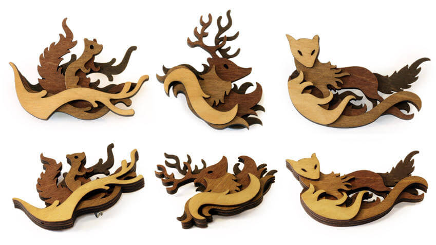 Splendid Wood Cutout Sculptures by Martin Tomsky  (4)