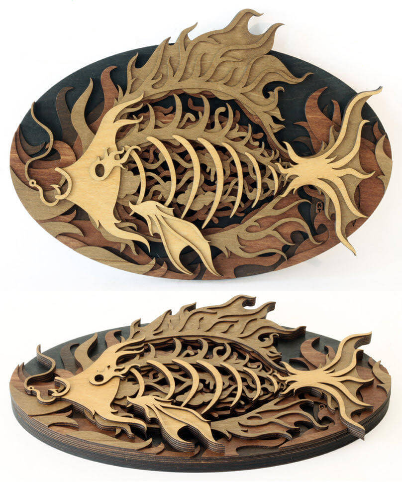 Splendid Wood Cutout Sculptures by Martin Tomsky  (6)