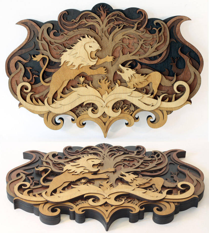 Splendid Wood Cutout Sculptures by Martin Tomsky  (7)