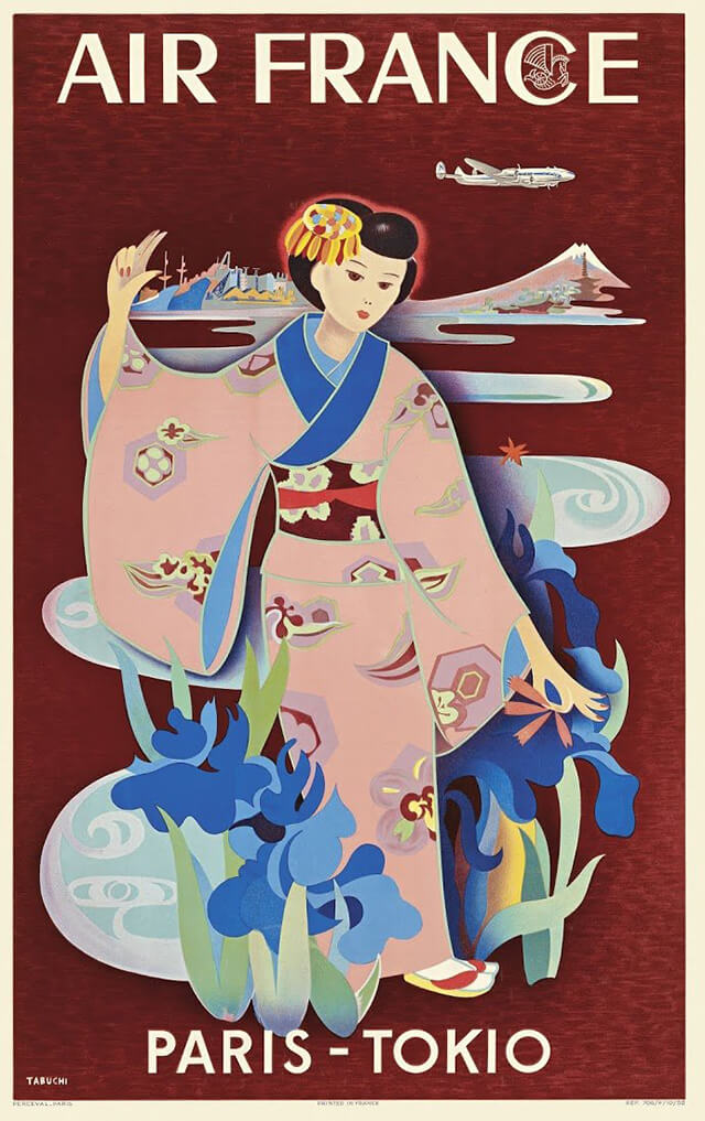 The Golden Age of Air Travel Beautiful Vintage Airline Posters - 04