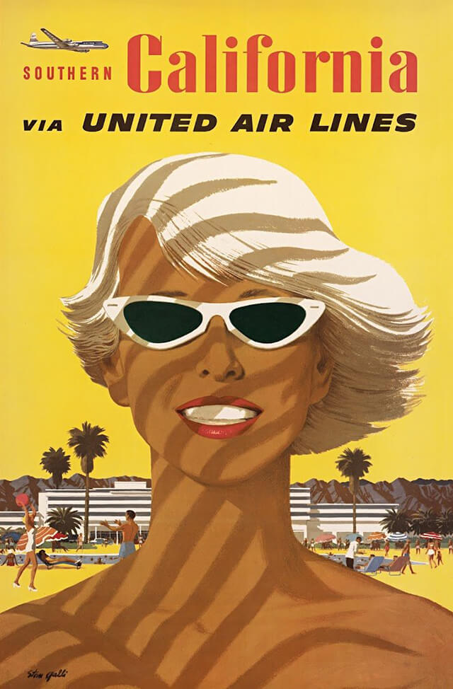 The Golden Age of Air Travel Beautiful Vintage Airline Posters - 06