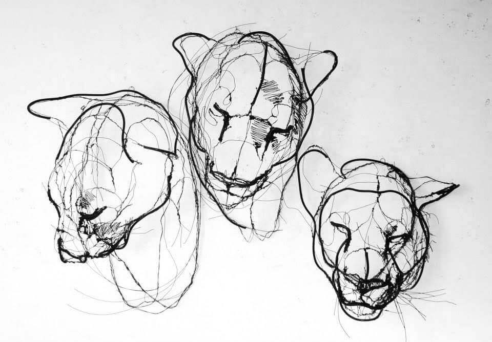 david oliveira sculpture wire oldskull 8
