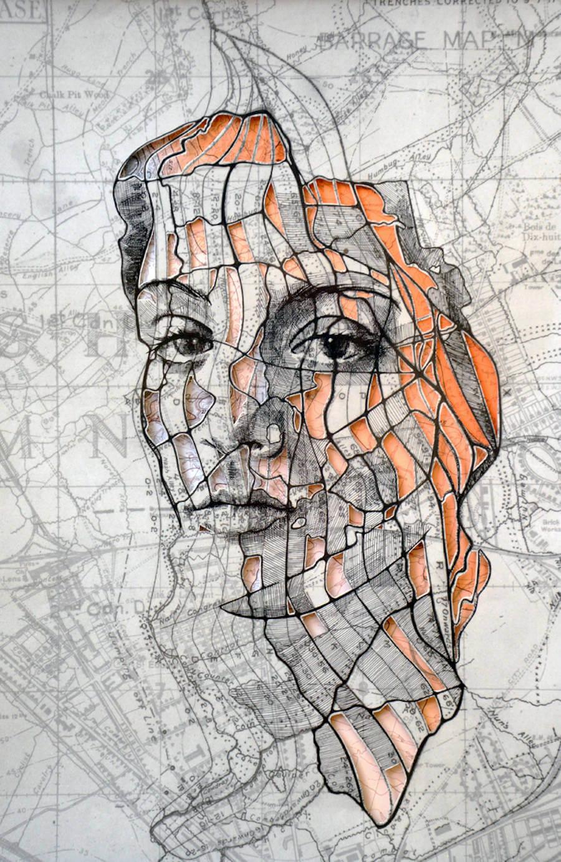 Portraits Drawn on Maps by Ed Fairburn  (9)