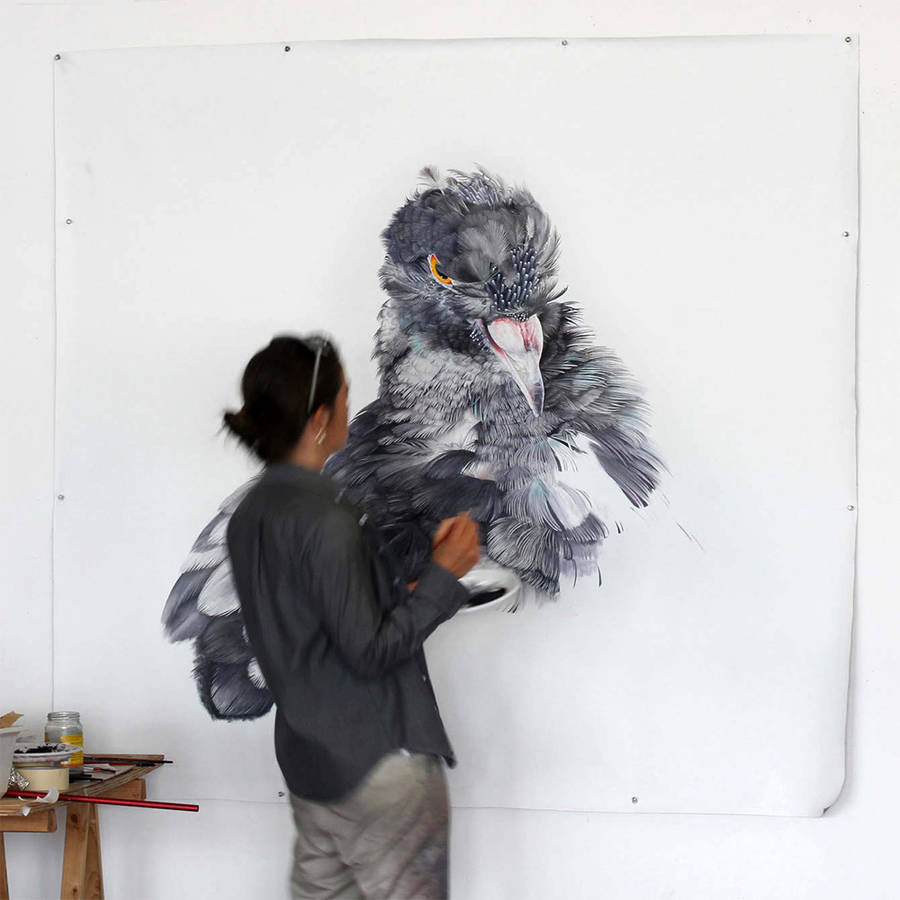 Adele Renault Paints Incredibly Realistic Pigeon (2)