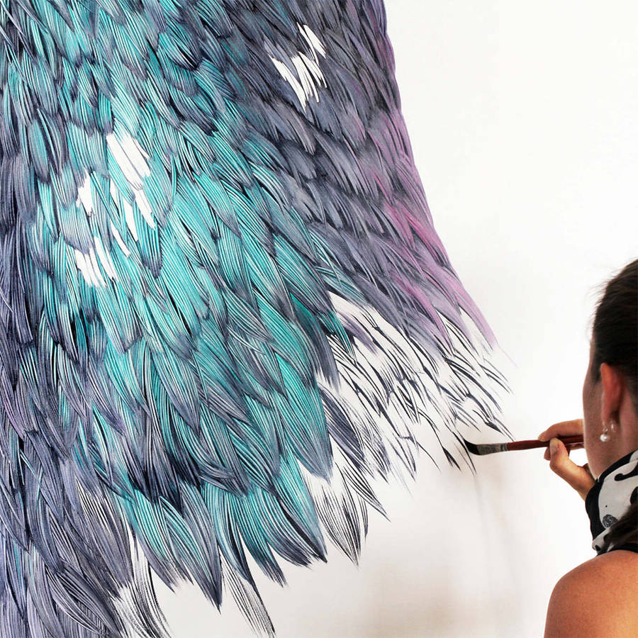 Adele Renault Paints Incredibly Realistic Pigeon (7)