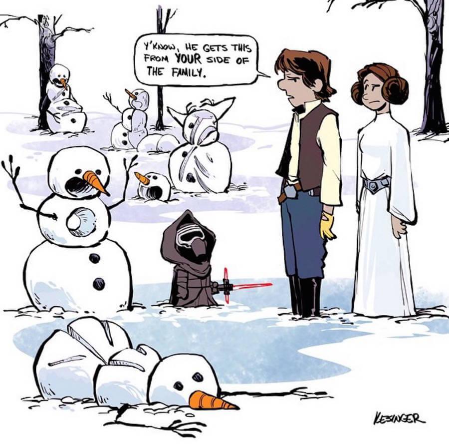 Star Wars Meets Calvin and Hobbes Comics  (1)