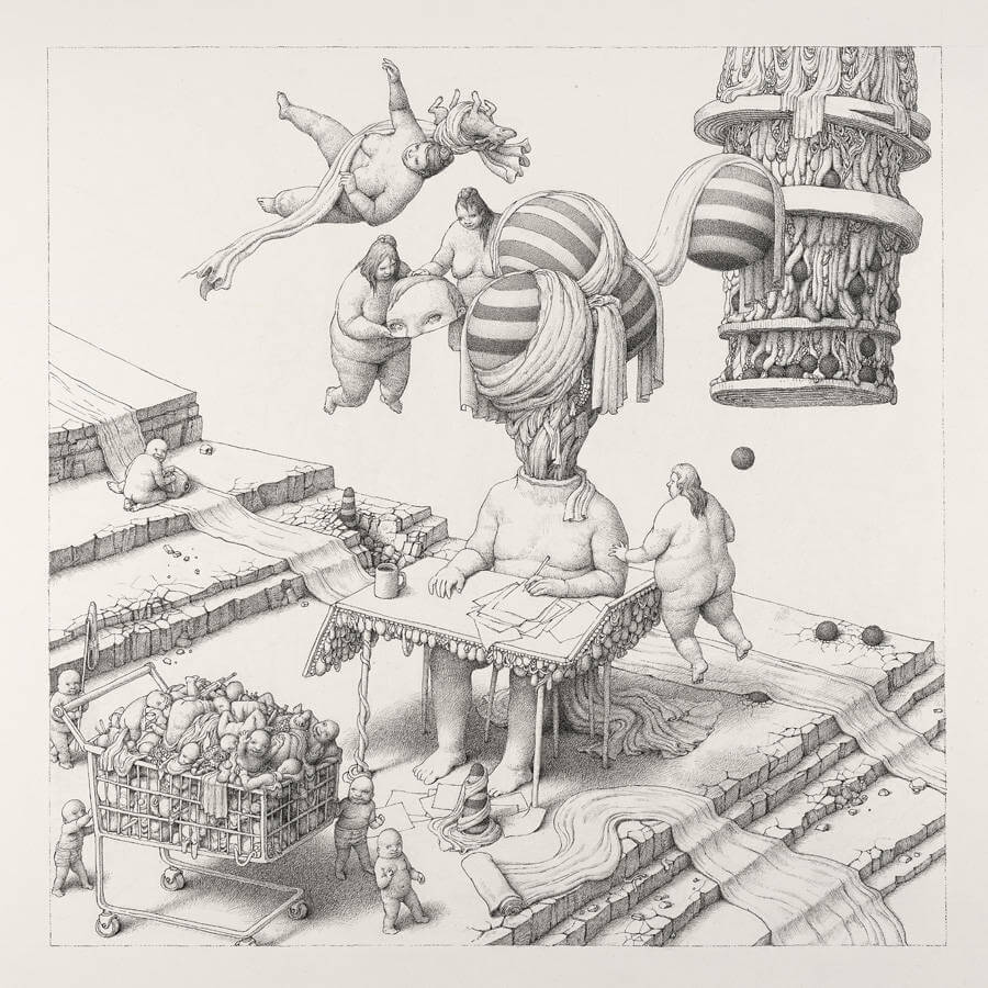 Detailed Drawings with Strange Characters by Anton Vill