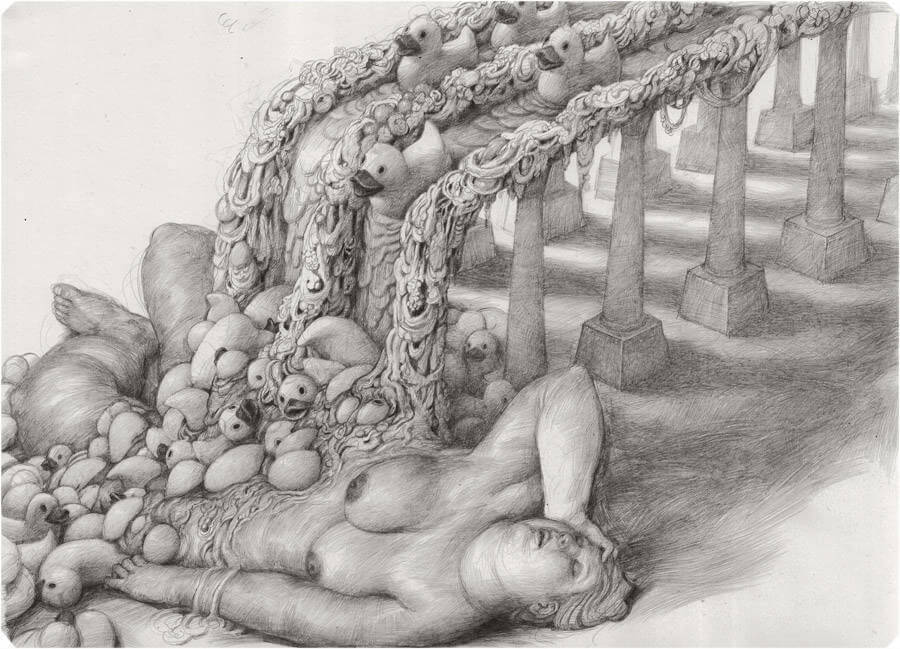Detailed Drawings with Strange Characters by Anton Vill (10)