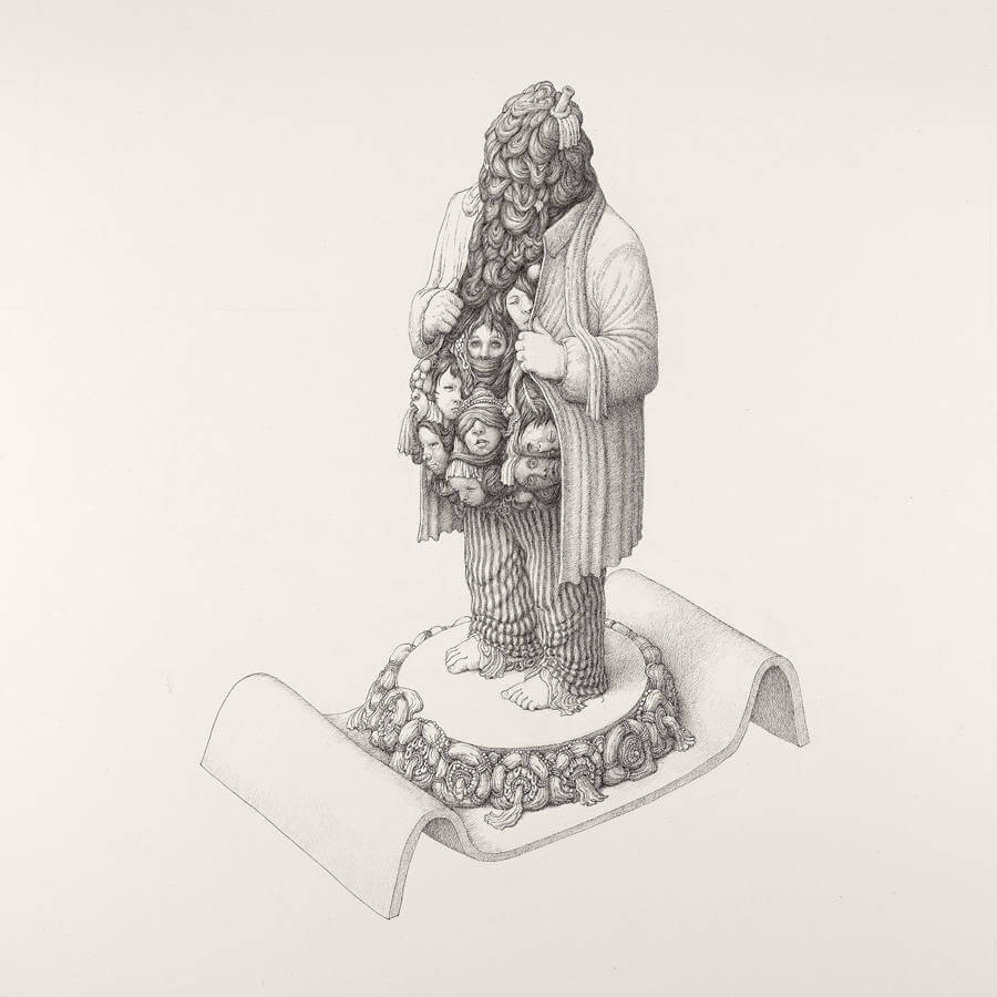 Detailed Drawings with Strange Characters by Anton Vill (4)