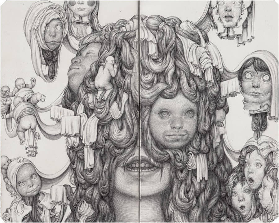 Detailed Drawings with Strange Characters by Anton Vill (6)