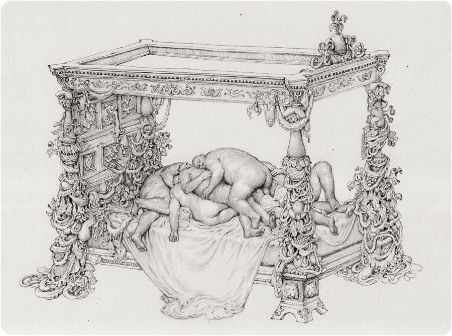 Detailed Drawings with Strange Characters by Anton Vill (8)