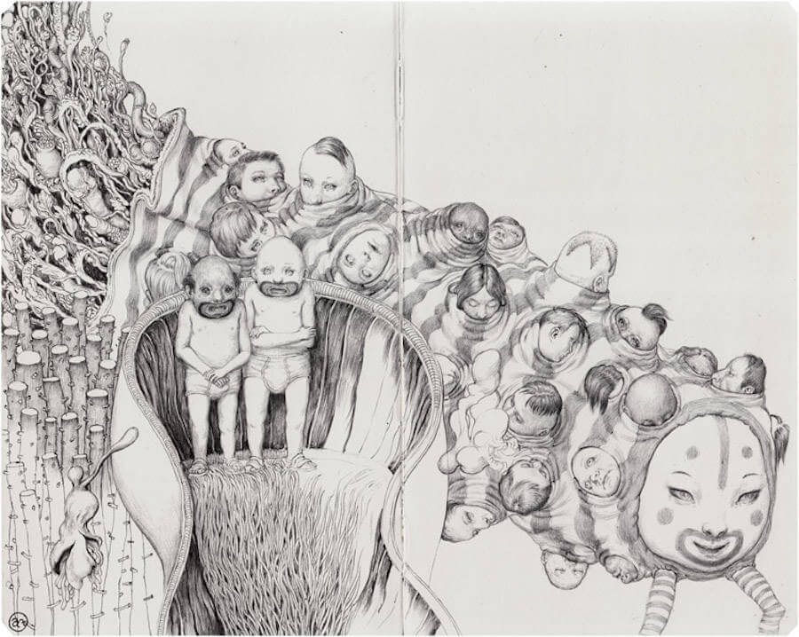 Detailed Drawings with Strange Characters by Anton Vill (9)