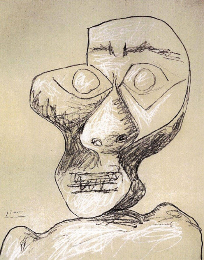 Picasso Self Portrait Evolution From Age 15 To Age 90  (13)