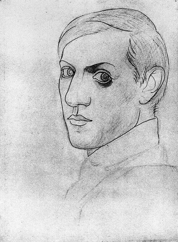 Picasso Self Portrait Evolution From Age 15 To Age 90  (6)