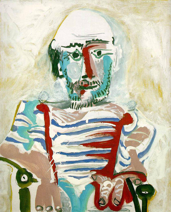 Picasso Self Portrait Evolution From Age 15 To Age 90  (8)