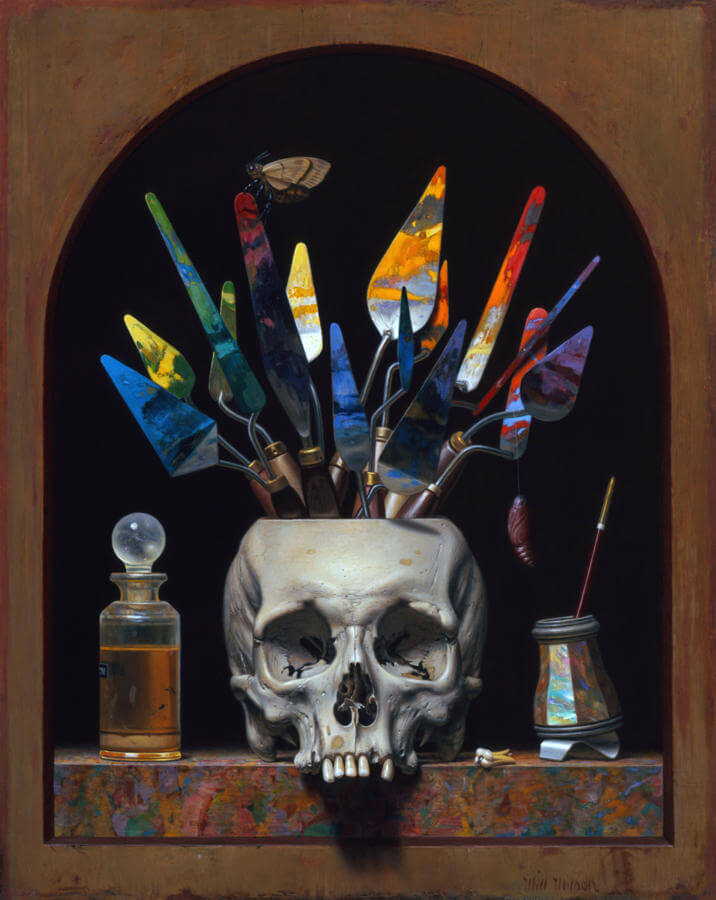 will wilson paintings oldskull 2
