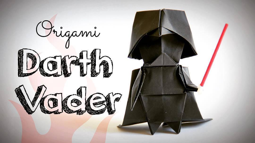 haz tu origami de darth vader oldskull