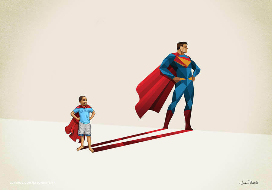 New Children's Superheroes Shadows Posters  (10)