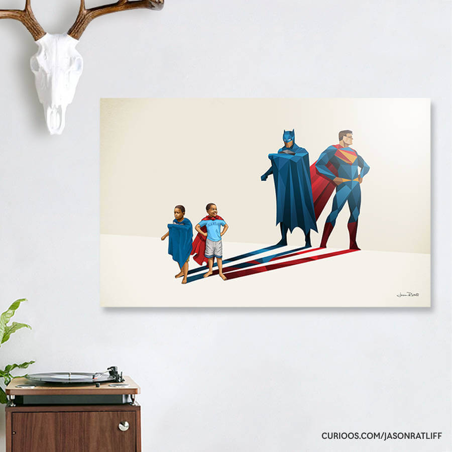 New Children's Superheroes Shadows Posters  (18)