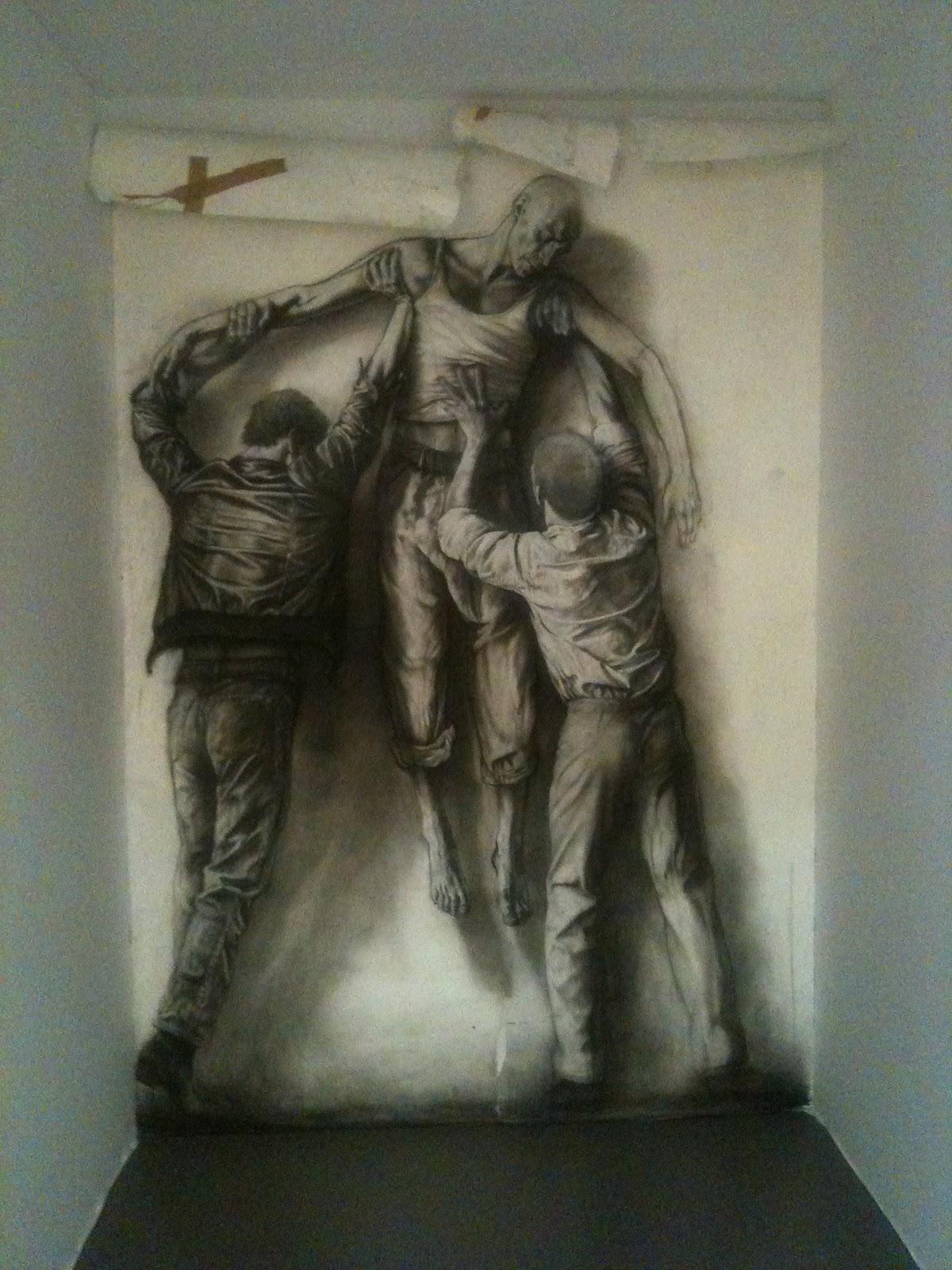 Ernest PIGNON-street-art-oldskull-3