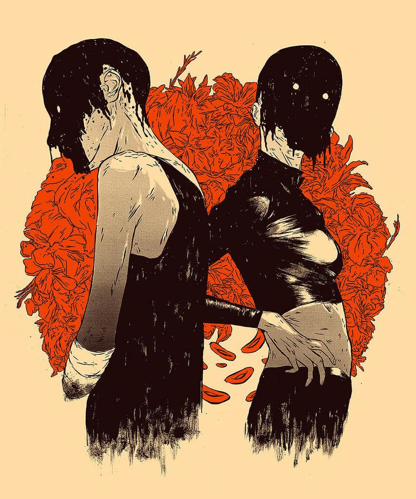 hafaell illustration oldskull 2