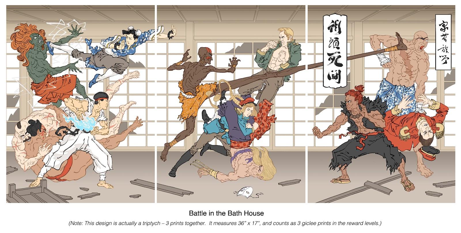 Ukiyo-e Videogame Heroes