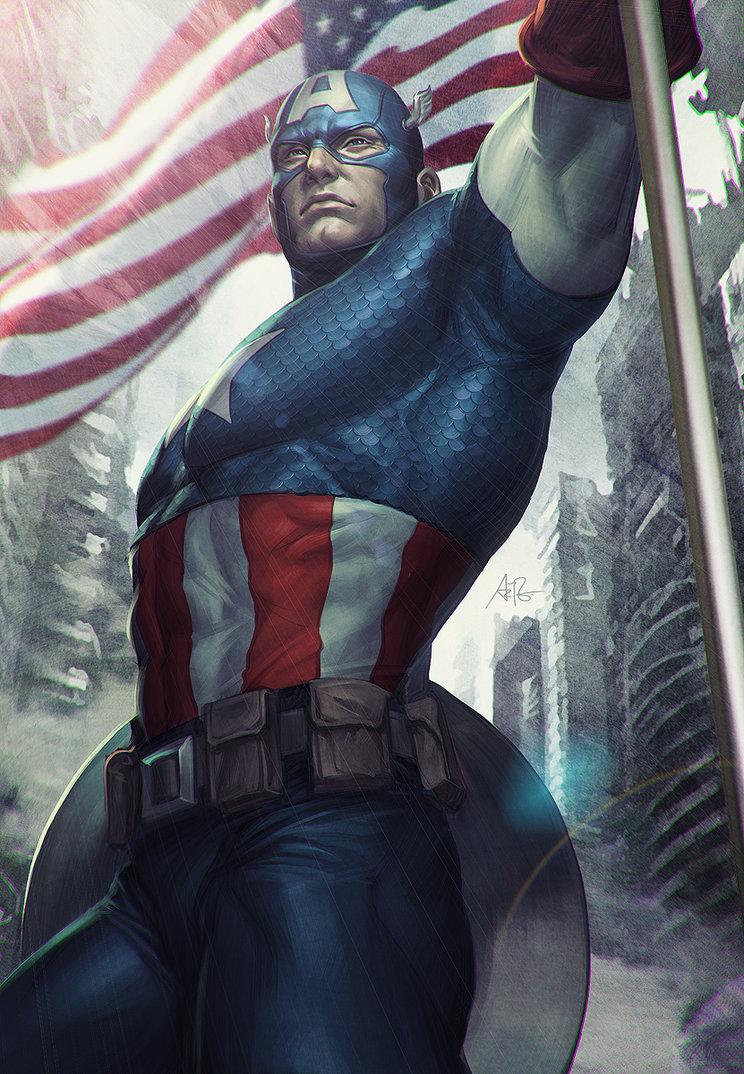 Capitan-america-illustration-artgerm-oldskull