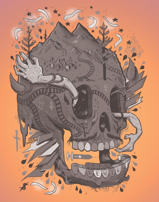 Nick sirotich illustration Devils