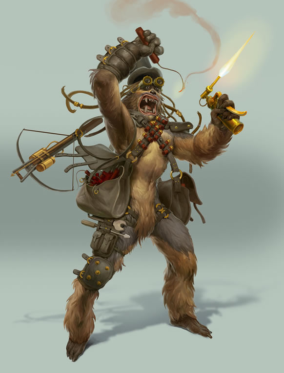 steampunk_star_wars-illustration-chewbacca-oldskull