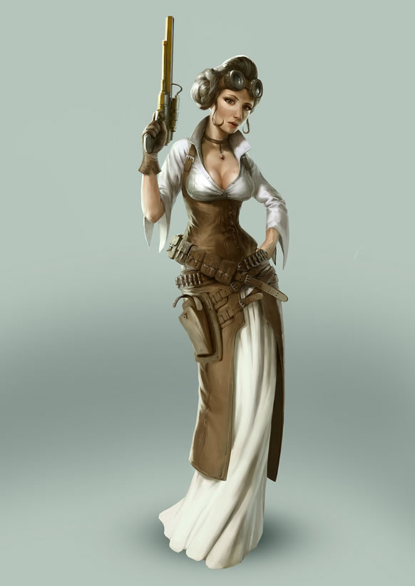 steampunk_star_wars-illustration-leia-oldskull