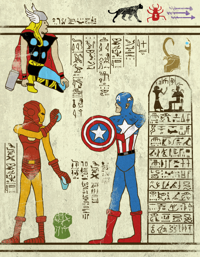hero-glyphics-avengers-josh-lane-illustration