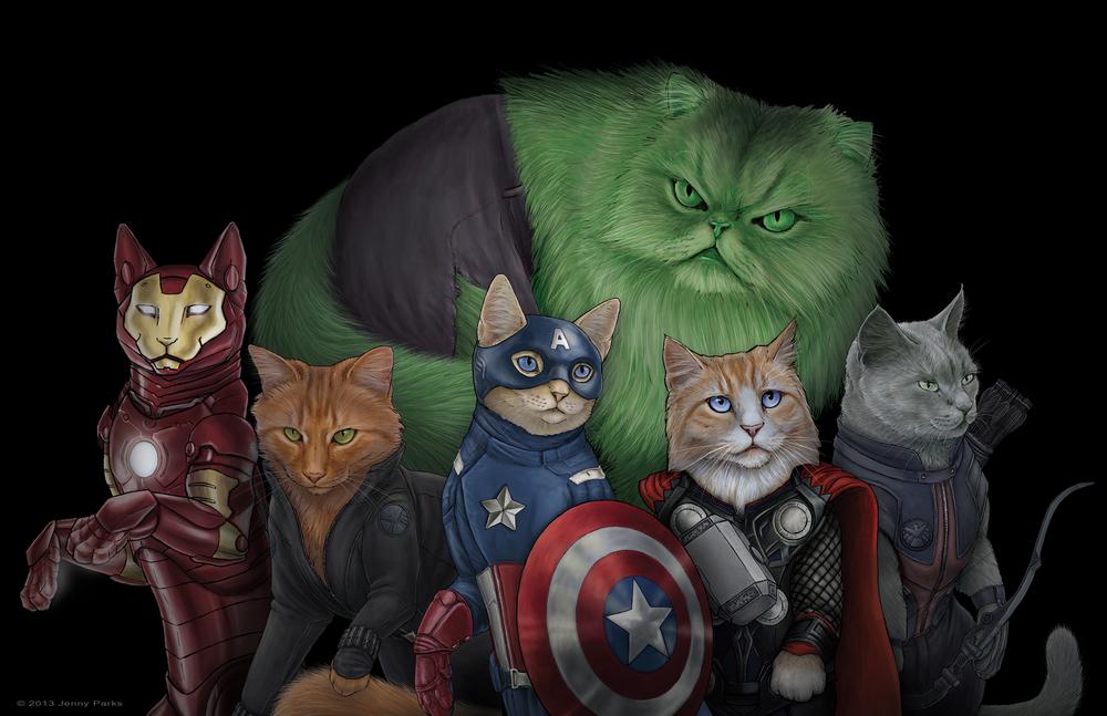 Catvengers-gatos-oldskull