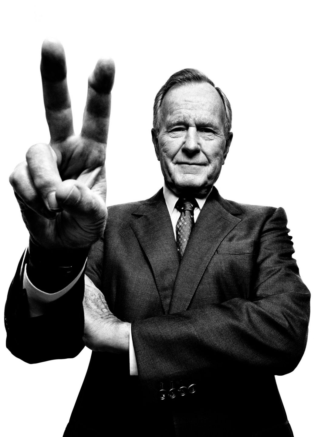 George H.W. Bush portrait photography