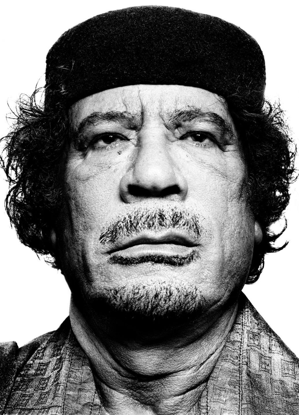 Muammar Gaddafi portrait photography