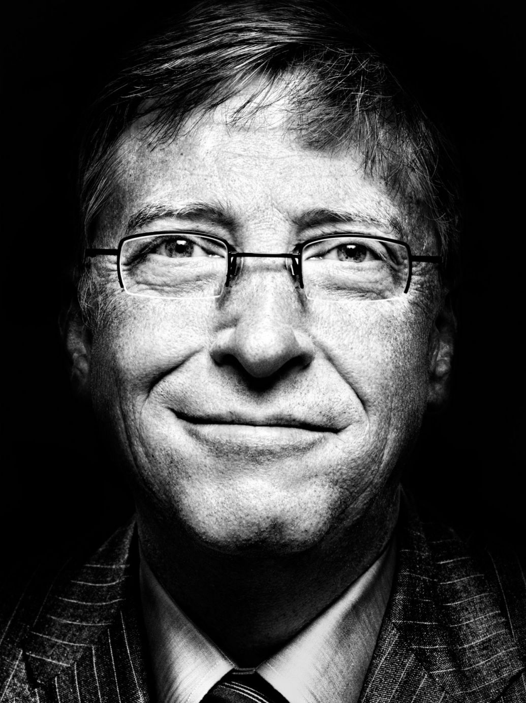 bill gates portrait photography