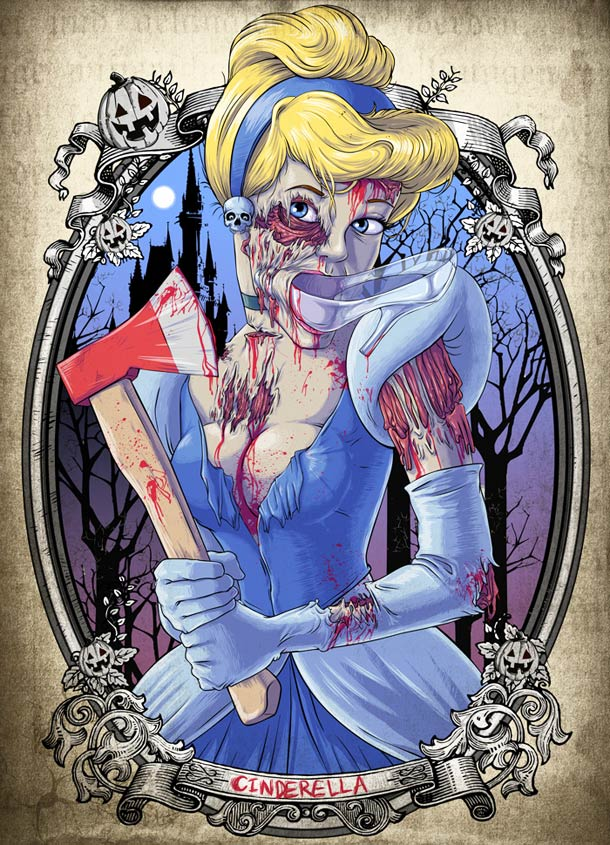 Zombies-Disney-Princesses-illustration