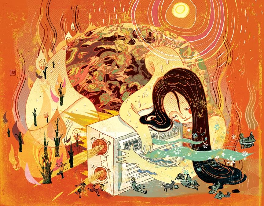 Brillante ilustración editorial de Victo Ngai - Diseño gráfico