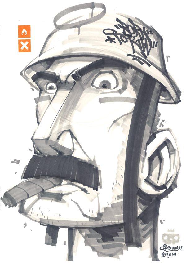 clogtwo illustration graffiti 3