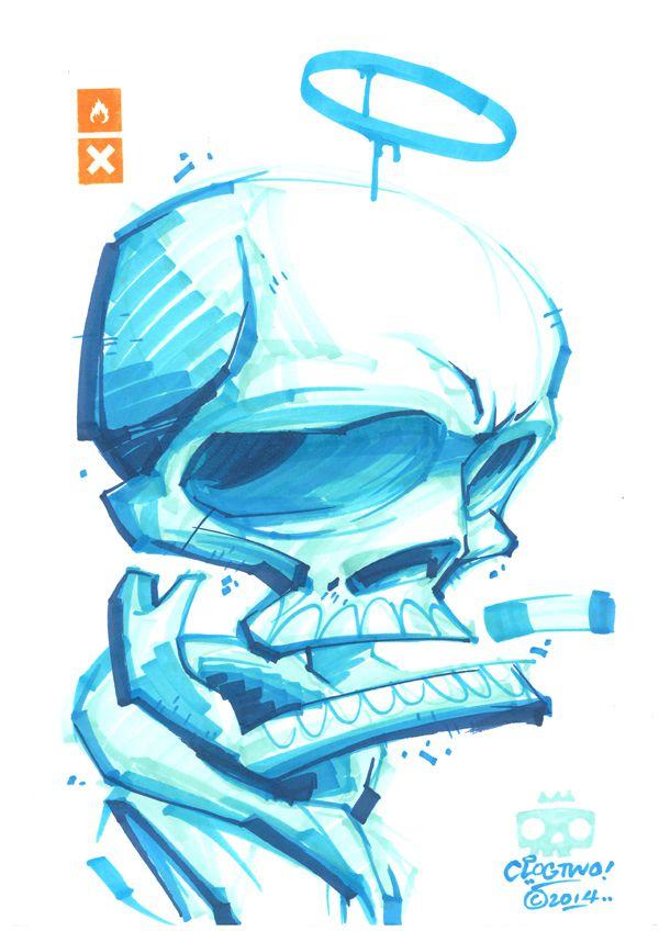 clogtwo illustration graffiti 9