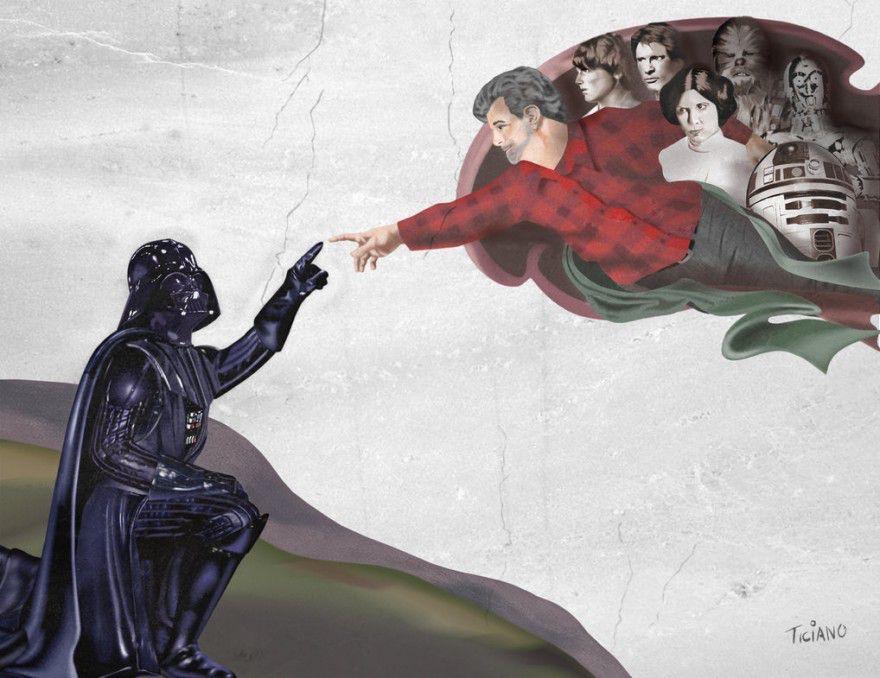 20 ilustraciones donde Darth Vader es el protagonista